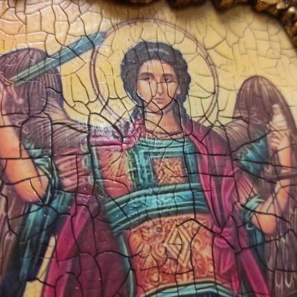 Фото иконы с Ангелами, каталог резных и расписных икон с камнями