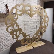 Фото резного сердца из двух половинок для свадьбы