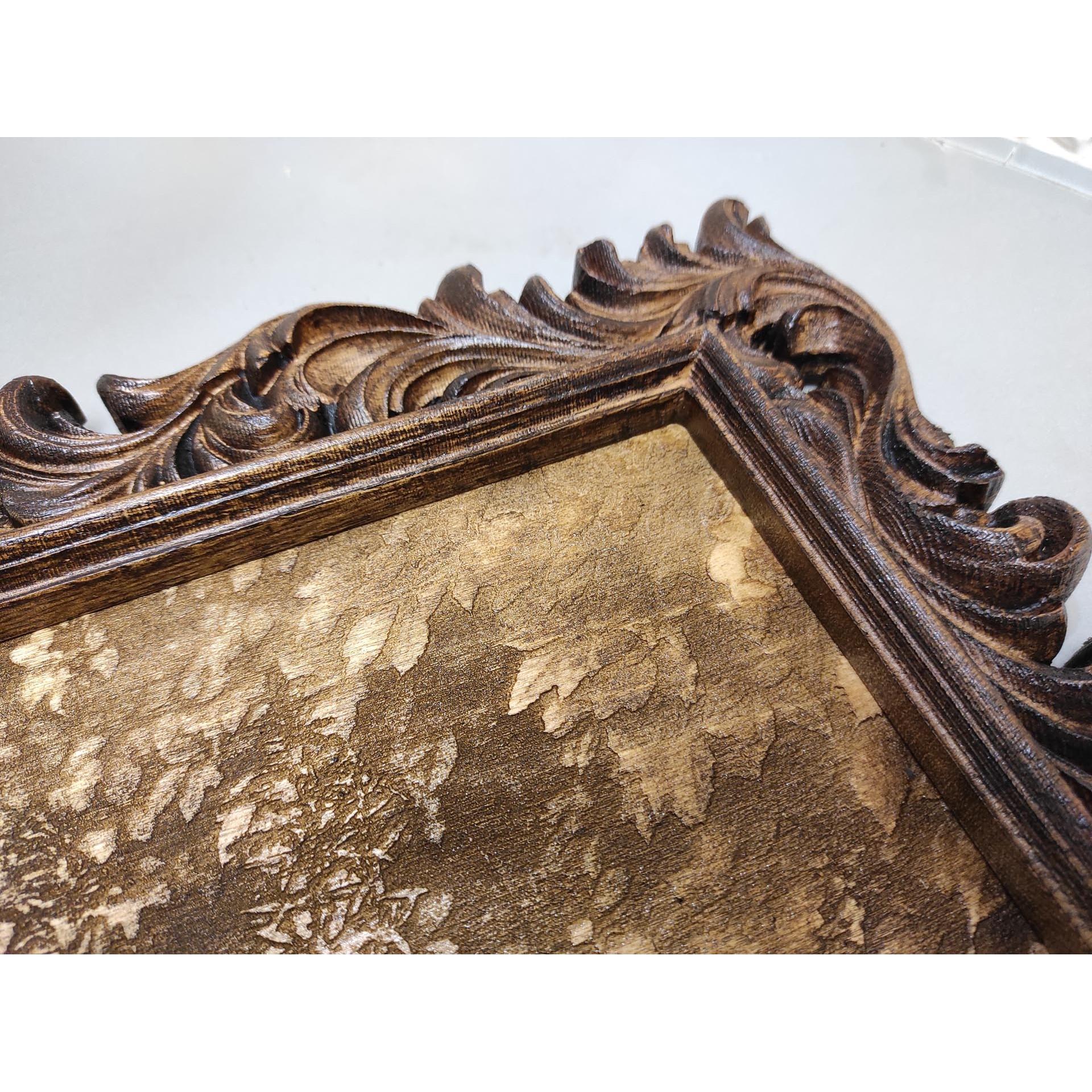 Резная рама из массива для картины или зеркала РРК-1