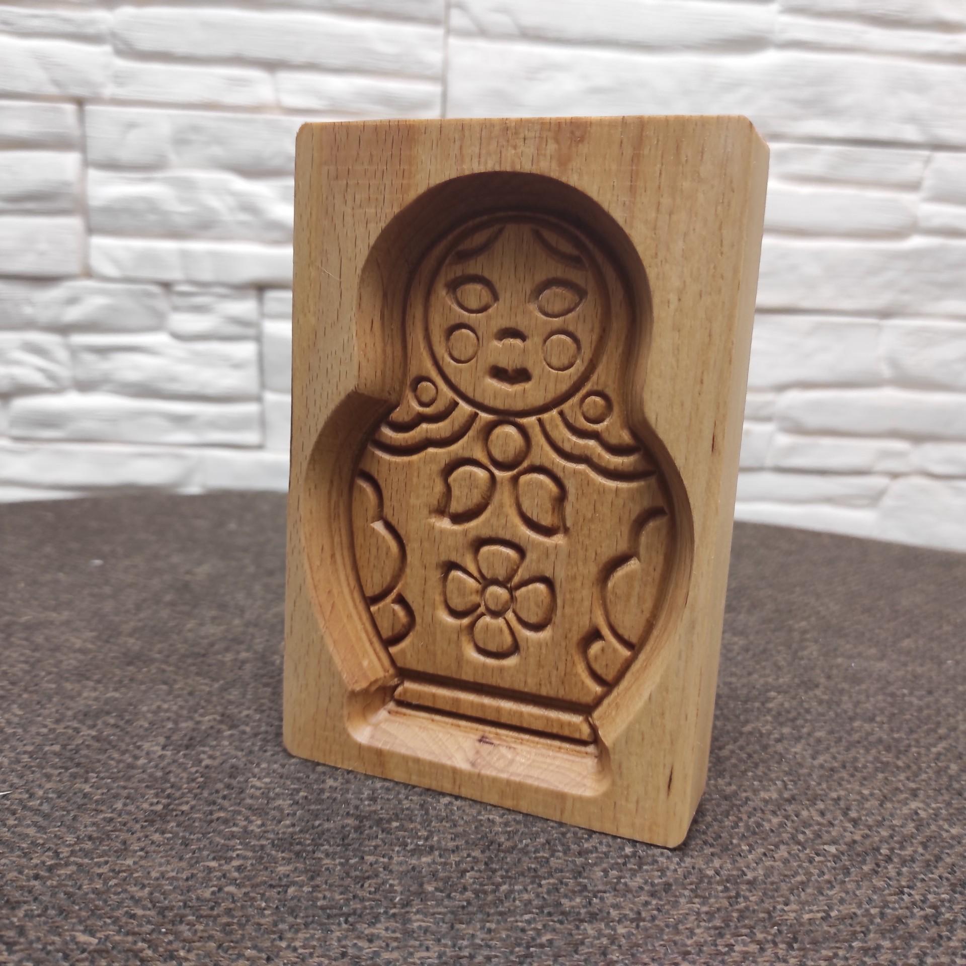 Фото формы для печати пряника Матрешка общий вид