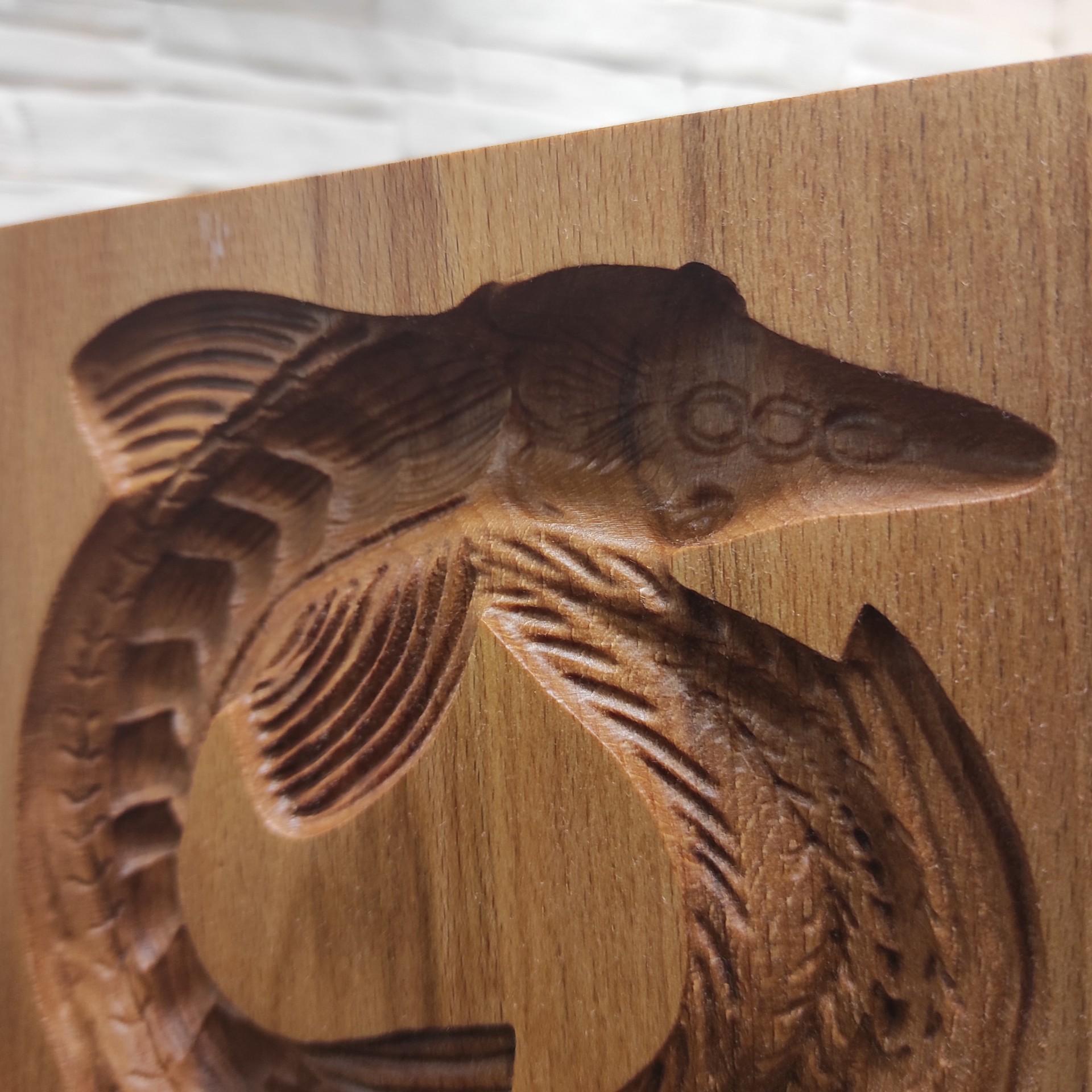 Изображение деревянной формы под пряник Стерлядь колесом