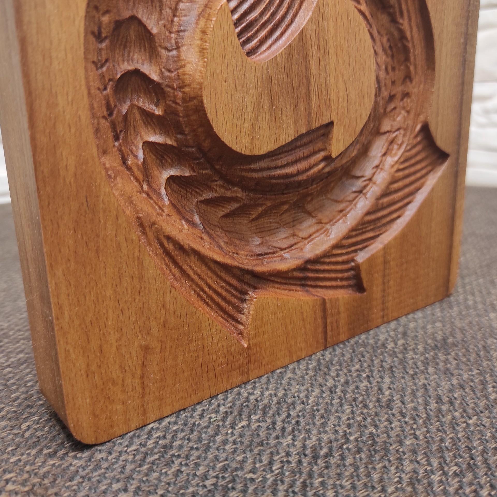 Изображение деревянной формы под пряник Стерлядь колесом детали нижней части доски