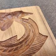 Фото глубины рельефа у хвоста формы стерляди