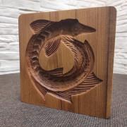 Фотография деревянной формы под пряник Стерлядь колесом