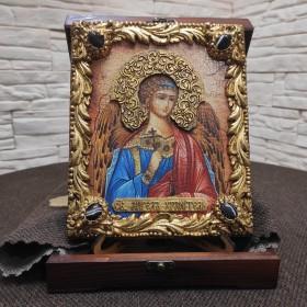 Икона Ангела Хранителя с камнями