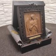 Фото иконы Ангела Хранителя из бука