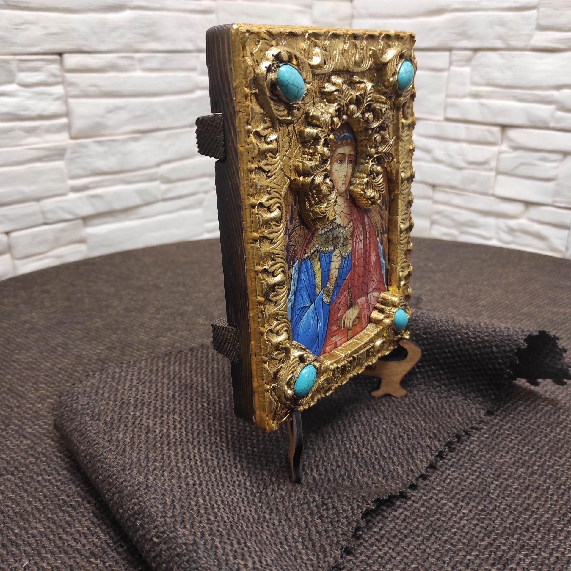 Фото общее подарочной иконы Ангел Хранитель