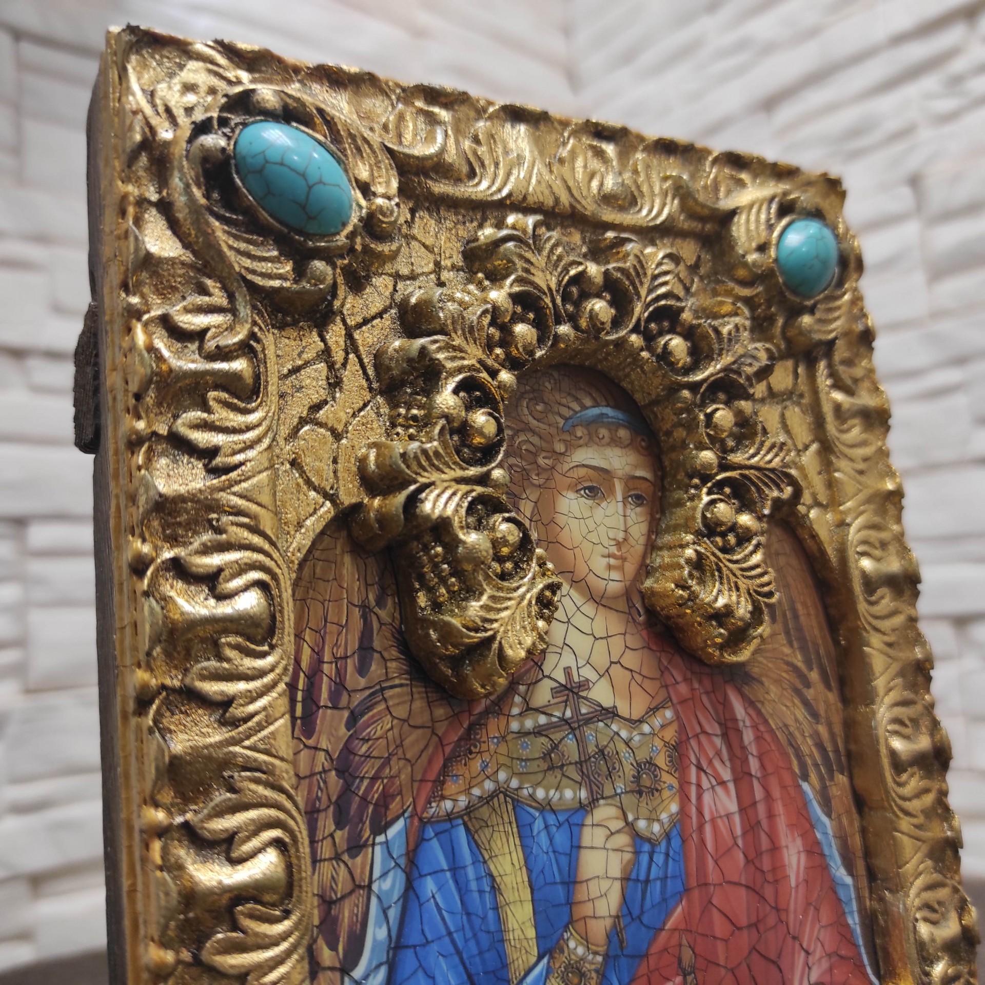 Фото верха подарочной иконы Ангел Хранитель