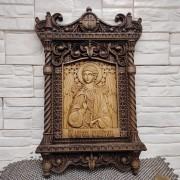 Резная уникальная икона святой Ангел Хранитель