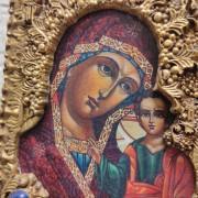 Фото центра лика иконы пресвятой Богородицы Казанская с иглицами