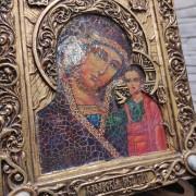 """Фото подарочной иконы под старину пресвятой Богородицы """"Казанская"""" с камнями"""