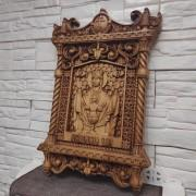 Фото резной иконы пресвятой богородицы Неупиваемая чаша