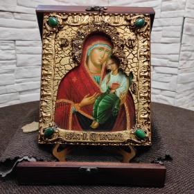Икона пресвятой богородицы Песчанская с камнями