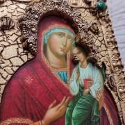 Фото лика иконы пресвятой богородицы Песчанская с камнями