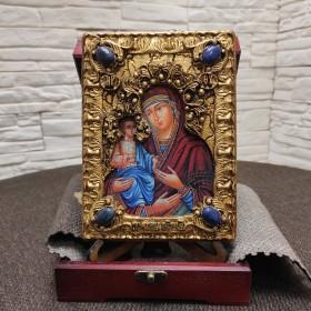 """Подарочная икона пресвятой Богородицы """"Троеручица"""" с иглицами, камнями"""