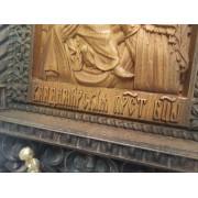 Резная уникальная икона пресвятой богородицы Владимирская