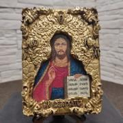 Иконка Господа Вседержителя с позолоченной ризой