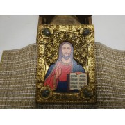 Подарочная икона Господа Вседержителя с иглицами, камнями