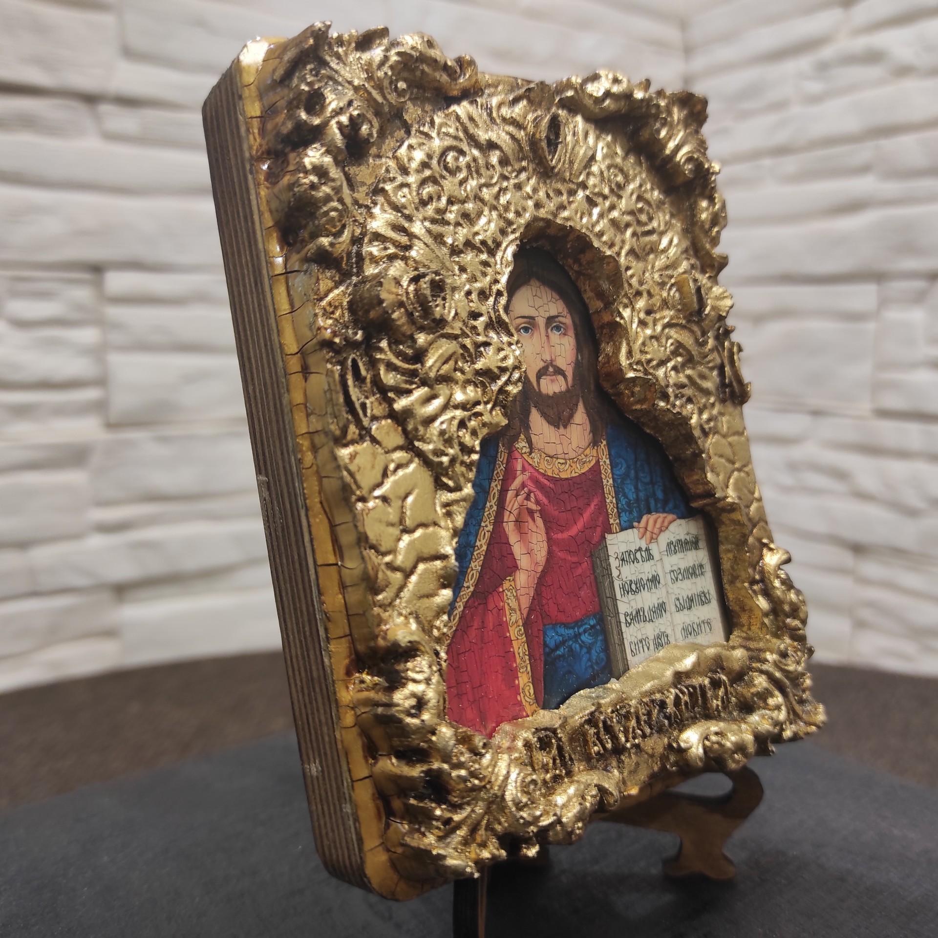 Общее фото с другого ракурса маленькой иконки Господа Вседержителя