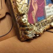 Фото нижнего угла маленькой иконки Господа Вседержителя