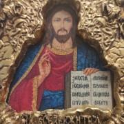 Фото лика маленькой иконки Господа Вседержителя