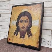 Спас Нерукотворный икона под старину, массив сосны
