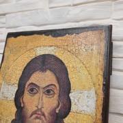 Фото лика Спас Нерукотворный икона под старину, массив сосны