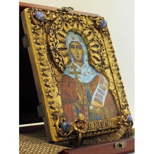Авторская икона святой мученицы Натальи Никомедийской с камнями