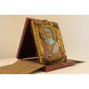Авторская икона святой мученицы Натальи Никомедийской с камнями в подарочном футляре