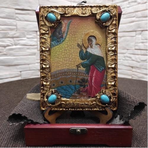 Икона Ксения Петербургская, святая блаженная, подарочная