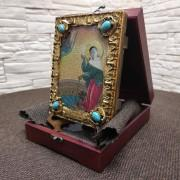 Фото иконы Ксения Петербургская, святая блаженная, подарочная в футляре другой ракурс