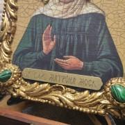 Фото иконы надписи Матроны Московской под старину с иглицами и камнями