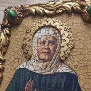 Фото венца иконы Матроны Московской под старину с иглицами и камнями