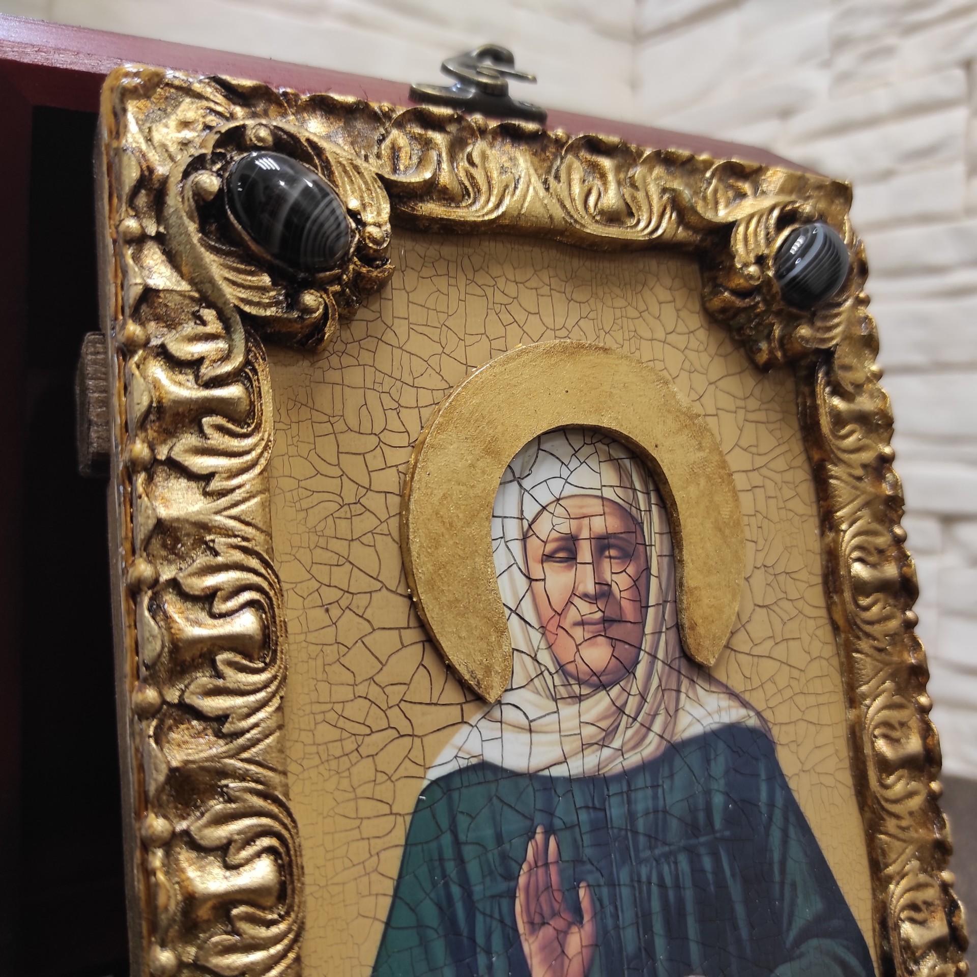 Фото иконы Матроны Московской верхние камни