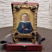 Небольшая икона Матрона Московская святая блаженная, подарочная