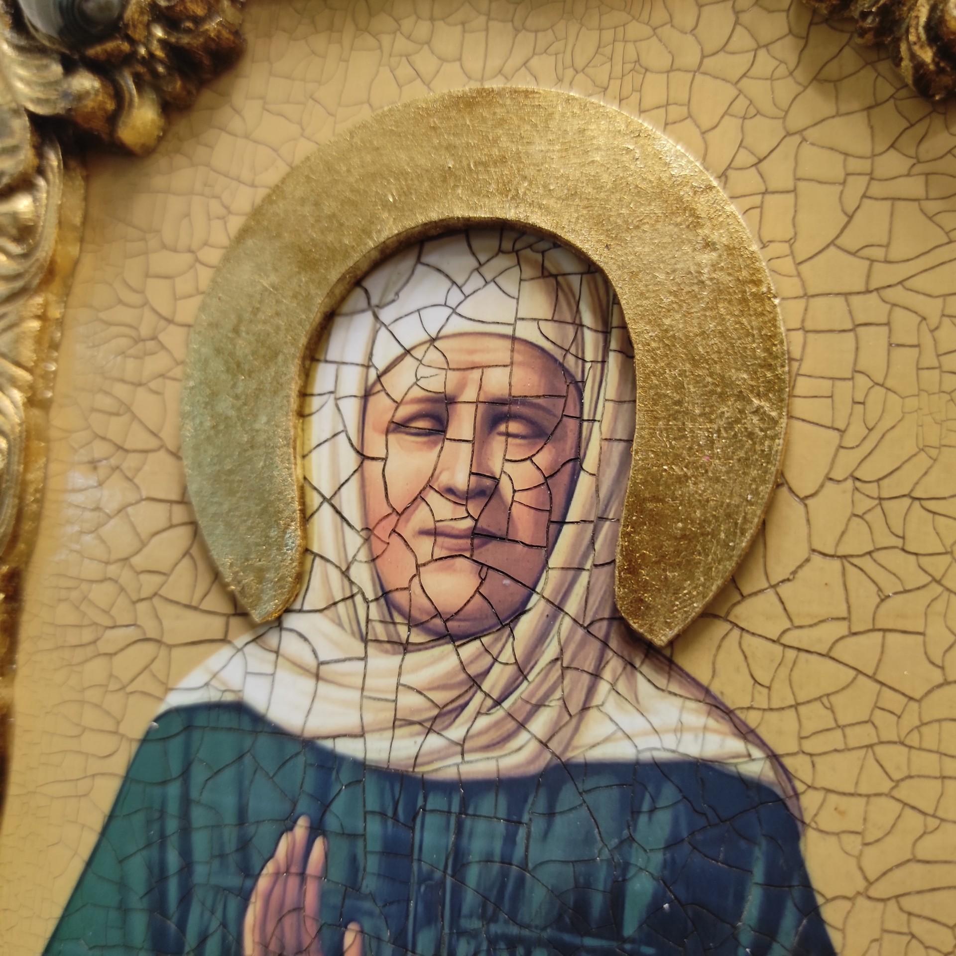 Фото иконы Матроны Московской вид венца