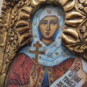 Фото лика иконы святой мученицы Натальи Никомедийской с камнями другой ракурс