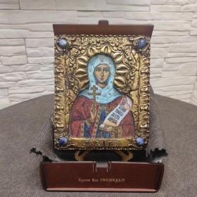 Икона святой мученицы Натальи Никомедийской с камнями
