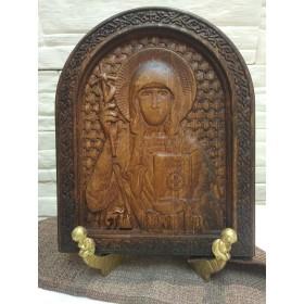 Резная икона святой Равноапостольной Нины (именная икона Нина)