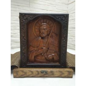 Подарочная резная именная икона Александр Невский