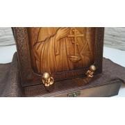 Резная икона святой Анатолий Никомедийский