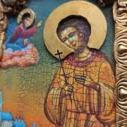 Фото небольшой иконы Артемия Веркольского, подарочная лик и венец