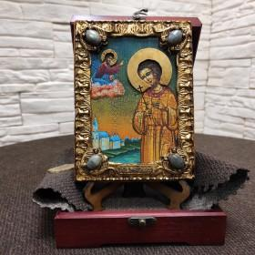 Небольшая икона Артемий Веркольский, подарочная