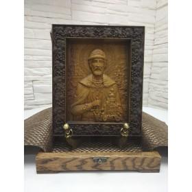 Резная икона святого благоверного князя Димитрия Донского