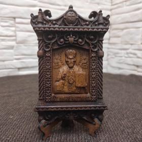 Маленькая резная икона Николая Угодника