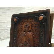 Резная икона святой благоверный князь Олег Брянский