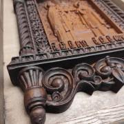Фото резной уникальная икона Петра и Февронии Муромских 30 на 46 см нижней части иконы слева