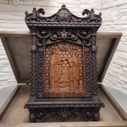 Резная уникальная икона Петра и Февронии Муромских 30 на 46 см