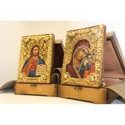 Венчальные иконы под старину пресвятой богородицы Казанская и Господа