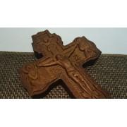 Резной православный крест из массива Бука